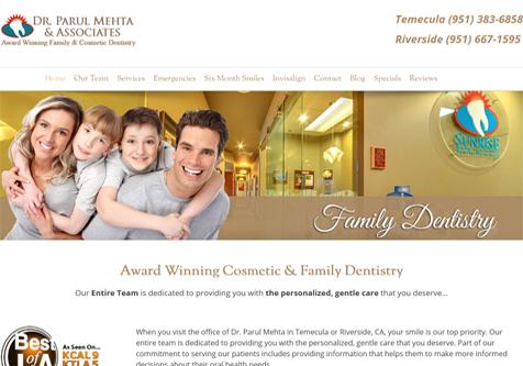 Parul Mehta DDS. Temecula, CA | Dental SEO and Marketing
