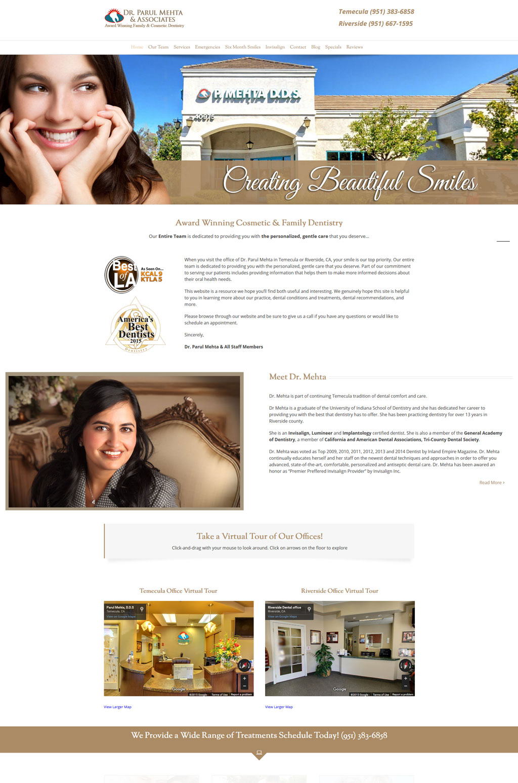 Dental Website Design Temecula