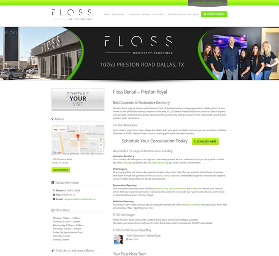 Floss Locations Landing Page